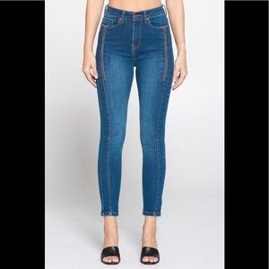 Judy Blue Mid-rise Stretch Zipper Ankle Jeans